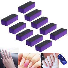 Black Purple 10 Pcs Buffer Buffing Sanding Block Files Grit Nail Art Tool Set