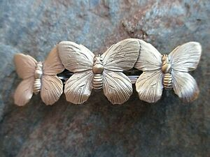 Butterflies Hair Barrette with Made in France 70mm Clip-Made in USA 6040B