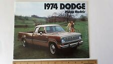 1974 Dodge Pickup - Original Sales Brochure - Excellent Condition - (Us)