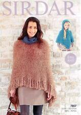 Sirdar 7807 Knitting Pattern Ladies and Girls Poncho to knit in Sirdar Touch
