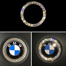 Bling Rhinestone Steering Wheel Logo Decoration Cover Trim for BMW E90 E92