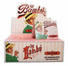 5 Booklet Packs Big Bambu Classic Cigarette Rolling Papers Brand New & Sealed!