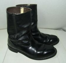 VINTAGE MADE IN USA, BLACK LEATHER ENGINEER MOTORCYCLE BIKER BOOTS MEN'S 11 D