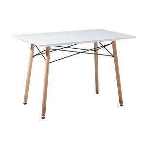 Dining Table White Retro Design Office Kitchen Dining Room Table Rectangular New