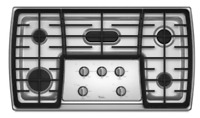 """Whirlpool Gold G7CG3665XS 36"""" Stainless Steel 5 Burner Gas Cooktop New"""