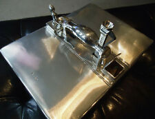 More details for solid 925 silver smokers compendium - 1894 - cigar box-lighter-cutter-vesta