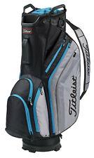 New Titleist Lightweight Cart Bag Black/Sleet/Processed Blue Free Shipping