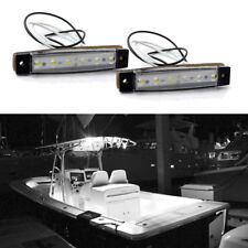 White Marine Led Light Courtesy & Utility Strip for Boats 12 Volts (Pair)