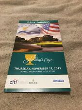 More details for 2011 international v usa 9th presidents cup daily pairings thurs @ melbourne exc