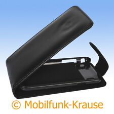 Flip Case Etui Handytasche Tasche Hülle f. Samsung GT-I9001 / I9001 (Schwarz)