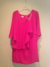 Izidress Women's Hot Pink Dress Formal Mother Of The Bride Size 16W