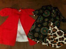 Rare Lot of 2 Vintage Barbie doll Reversible Coat jacket red christmas japan ?