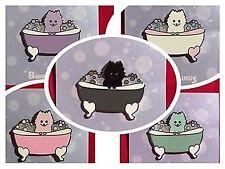 Pomeranian In Bubble Bath Enamel Pin BENEFITS RESCUE