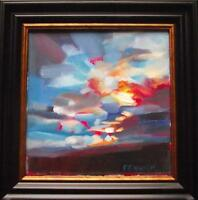 Sunset Study : Original Impressionist Oil Painting on Canvas :  by Fenwick : V