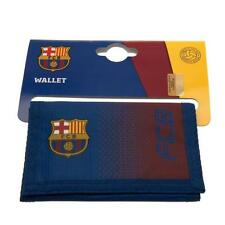 Barcelona Official Crested Nylon Wallet With Multiple Slots Gift Present