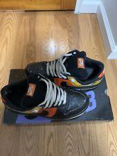 2005 Nike Dunk Low SB Raygun Black 10 Orange Flash Fat Tongue OG 304292 803