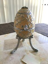 Egg Imperial Enamel Stand Treasure Musical Box Olivia & Gracie Spring Song Decor