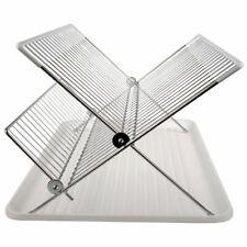 Escurreplatos blanco acero inoxidable y plástico cocina escurridor platos