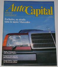 AUTOCAPITAL 12/1984 MERCEDES W124 – FERRARI GTO – PONTIAC GTO – RENAULT ESPACE