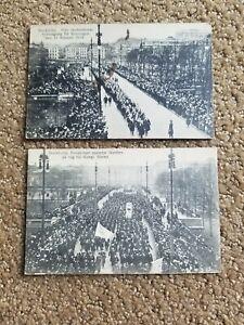 2 circa 1915 Stockholm Sweden Parade Postcards