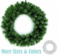 "24""/30"" Green/White Canadian Pine Artificial Christmas Wreath - Unlit Home Decor"