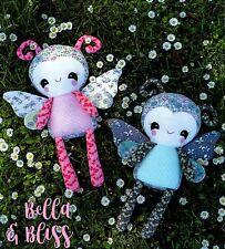 BELLA & BLISS - Sewing Craft PATTERN -  Rag Doll Lady Bugs Fairies Butterflies