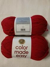 LION BRAND COLOR MADE EASY YARN, BULKY-5, IN CRIMSON, 2 Skeins
