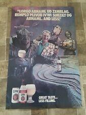 (VTG) Miller lite beer Bob uecker space monsters poster brewers Milwaukee rare