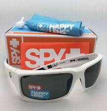 New SPY OPTIC Sunglasses GENERAL Matte White Frame w/ Happy Grey-Green Lenses