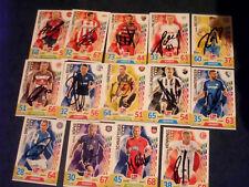 14 ori. signierte Match Attax Extra 17/18 2. Bundesliga Autogrammkarten Sammlung