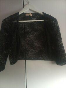 Black Lace Bolero Jacket Size M