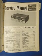 TECHNICS SA-6000X RECEIVER SERVICE MANUAL ORIGINAL FACTORY ISSUE THE REAL THING