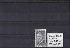 FT ) timbres francaise année 1962  ( nu 1329 ) oblitere