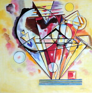 WASSILY KANDINSKY / Amazing Original Mixed Media on Paper, Signed & Dated. 30