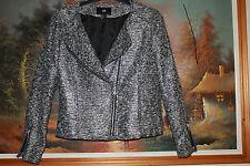 Trendy H&M Boucle Biker Jacke,Gr:36