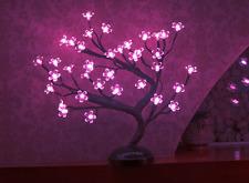 Lighted Bonsai Cherry Blossom PINK LED Light Artificial Tree Japanese Zen Decor