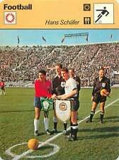 FICHE CARD: Hans Schäfer RFA Jaime Ramirez Chili Robert Davidson  FOOTBALL 1970s