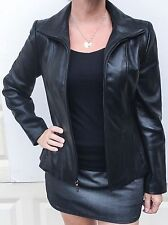 Jones New York genuine leather black women jacket size S