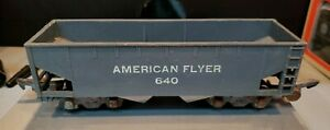 A.C. Gilbert American Flyer Trains Vintage  #640 Gray Hopper Car S-Scale