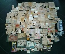 Huge Lot of 500+ Wood Mounted Rubber Stamps Stampin Up More