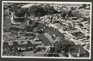 Postcard Horning on Norfolk Broads aerial view of River Bure RP