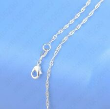 "10PCS 22 inch 925 Sterling silver plating ""Water Wave"" Chain Necklaces Wholesale"