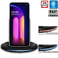 For LG V60 ThinQ 5G/G9 ThinQ Qi Wireless Fast Charger Charging Stand Holder Dock