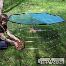 Freigehege Freilaufgehege 8-eckig Welpen Hasen Nager Kaninchen Auslauf Laufstall
