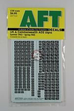 Archer 1/35 UK and Commonwealth AOS Signs #1 (Summer '43 - Spring '45) AR77031