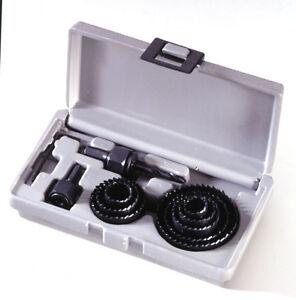 Coffret scies cloches 11 Pièces de 19 à 64 mm Bois Platre Placo Plastique Plâtre