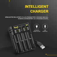 For 18650 22650 Lithium Ni-MH AA AAA Battery Yonii 4 Slots USB Smart Charger