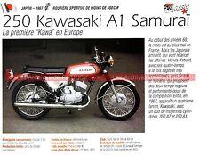 KAWASAKI 250 A1 Samuraï 1967 Fiche Moto 000196