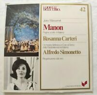MANON JULES MESSENET LP ROSANNA CARTERI ALFREDO SIMONETTO VINYL ITALY 1981 NM/NM