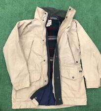 Vintage Woolrich Parka Jacket Flannel Lined Beige Size M